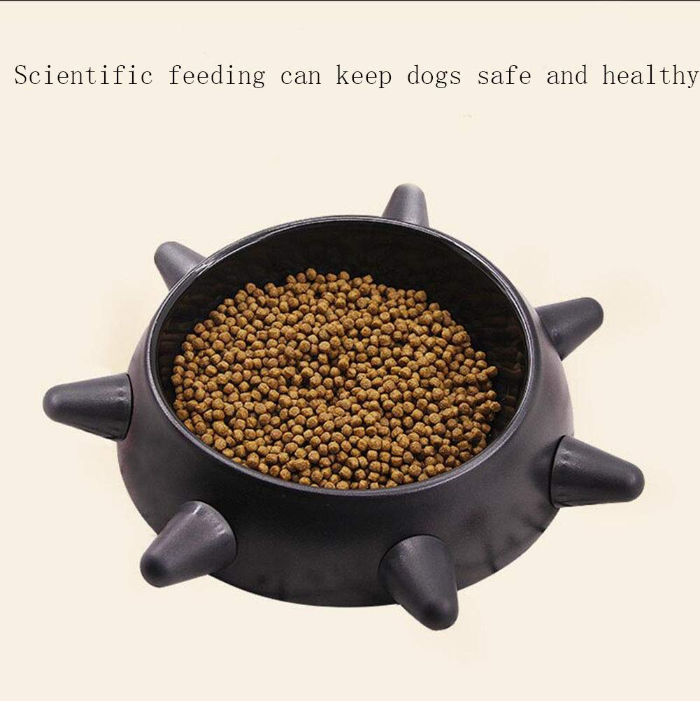 Dog Bowl Pet Cat Bowl Silicone Material Can Move Non-Slip Small Medium Dog Food Bowl and Water,L