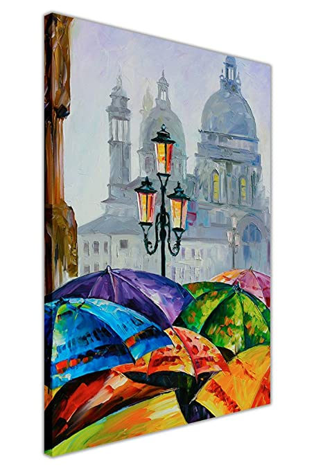 CANVAS IT UP Día lluvioso en Venecia por Leonid Afremov enmarcado ...