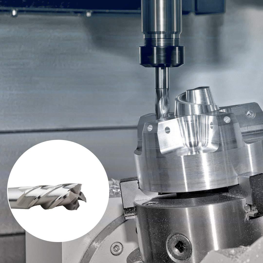 juego de fresas de v/ástago Drill End Mill 1.5//2//3//4//5//6//7//8//9//10 mm 4 fresas en espiral Juego de 10 brocas fresadoras HSS CNC para fresadora de v/ástago recto