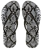 Showaflops Girl's Antimicrobial Shower & Water Sandals - Snakeskin 13/1
