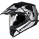 SteelBird HELMET SB-42/SBH-13 STRADA MATT BLACK/WHITE 600mm P.V.