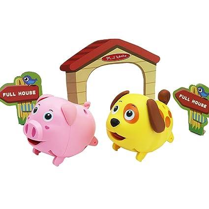Amazon Com Electronic Mini Animal Toy Play Set Dog N Pig Walking