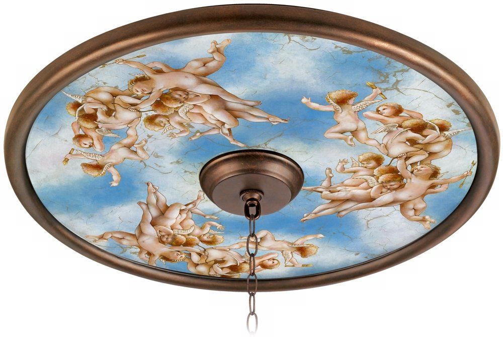 Celestial 24'' Wide Bronze Finish Ceiling Medallion by Universal Lighting and Decor