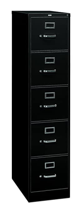 Amazon.com: HON 5 Drawer Filing Cabinet   310 Series Full Suspension Legal File  Cabinet, 26 1/2 Inch Drawers, Black (H315C): Kitchen U0026 Dining