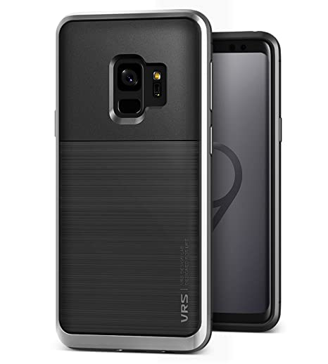 2ec57445aa0 VRS Design Samsung Galaxy S9 Case, Dual Layer Protective Phone Case [Black  + Steel