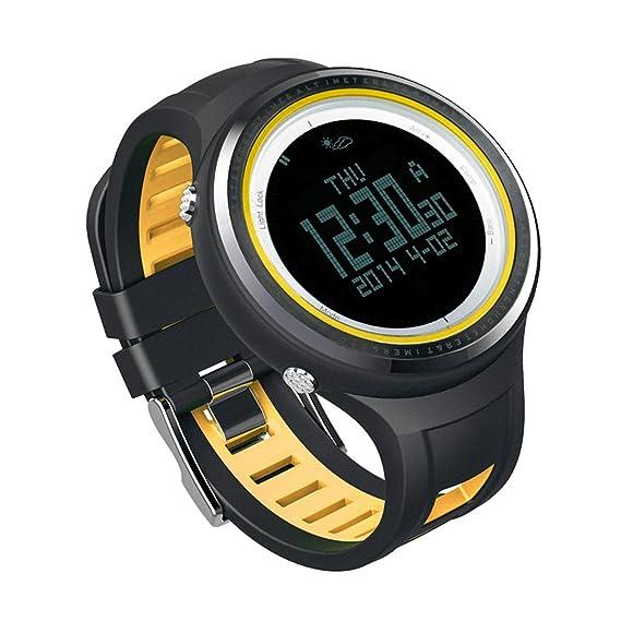 Sunroad - Reloj digital deportivo para hombre FR800NB, resistente al agua hasta 5 ATM y con retroiluminación, brújula, podómetro y termómetro, ...