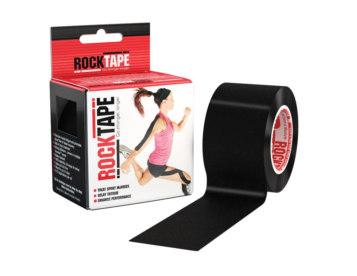 Rocktape RX Sensitive-Skin 2-Inch Kinesiology Tape, 16.4-Foot Continuous Roll, Black