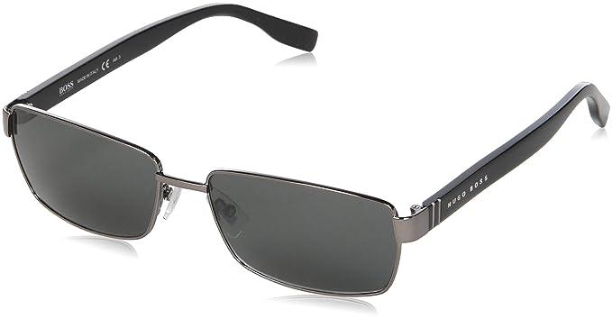Amazon.com: BOSS Negro metal anteojos de sol en rutenio ...