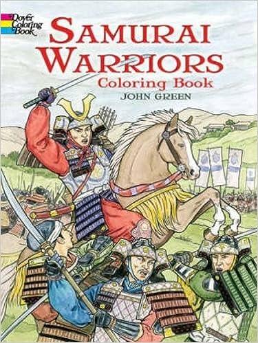 samurai warriors dover history coloring book