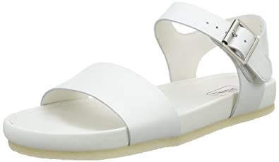 77f15620a Clarks Originals Women s Dusty Soul Open Toe Sandals White Size  43 ...