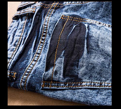 WFL básicos Zou Nocturno Vaqueros Viejos Slim Pantalones pies Pantalones para de Rectos Club para Hombres Índigo Pantalones Tipo Hombres qnZ1rwBq