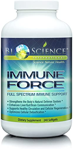BIOSCIENCE Immune Force Super Advanced Immune Support Booster Supplement For Men Women 240 Softgels Anti Inflammatory Wellness Immunity Booster With Mushroom Content