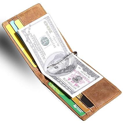 VANYA Money Clip Wallet, Monedero para Hombre de Cuero de ...
