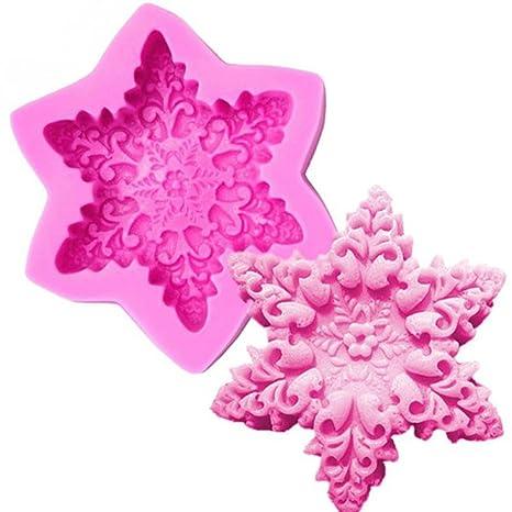 Hosaire Grande Copo de Nieve Hexagonal DIY Hecho a Mano del Molde del jabón Herramienta de