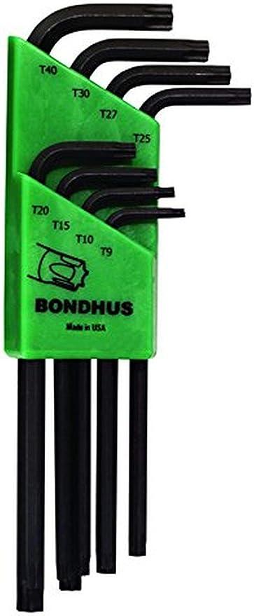 Bondhus 32432 8pc Set Tamper Resistant Star L-Wrench