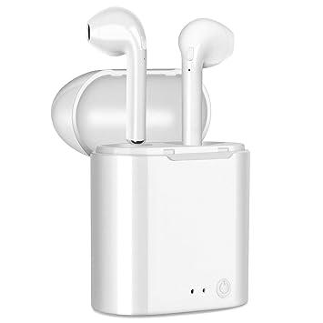 Auriculares Bluetooth, Auriculares con Doble Cancelación de Ruido Bluetooth Auriculares inalámbricos con Kit de Carga Mini Auriculares para Airpods y iPhone ...