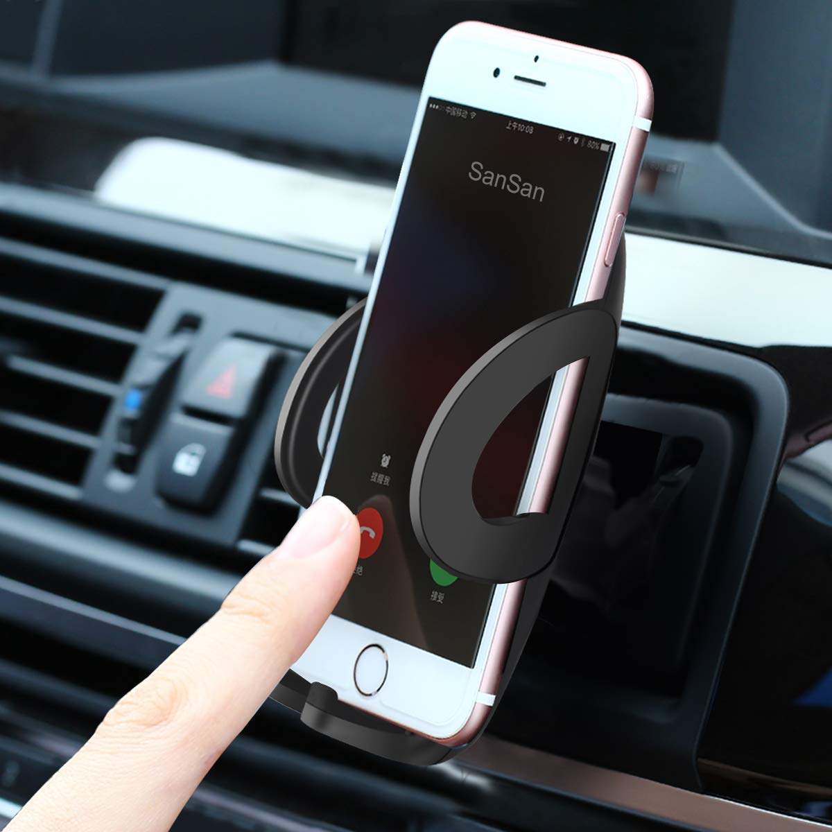 Google Nexus Huawei and More Grop 4351495856 Galaxy S5//S6//S7//S8 Universal Car Smartphone Holder Cradle Compatible with iPhone Xs Max XR X//8//8Plus//7//7Plus//6s//6Plus//5S Air Vent Car Phone Mount
