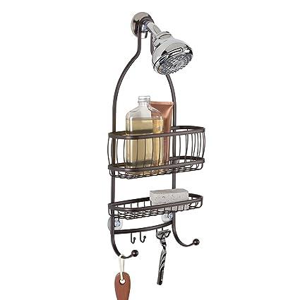 Amazon.com: mDesign Bathroom Shower Caddy, for Shampoo, Conditioner ...
