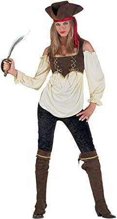 chiber Disfraces Disfraz de Mujer Pirata. Talla Única (S/M ...