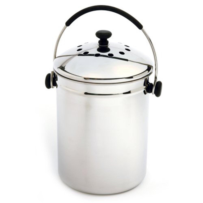 Amazon.com: Norpro Grip EZ Stainless Steel Compost Keeper: Compost Bins:  Kitchen U0026 Dining