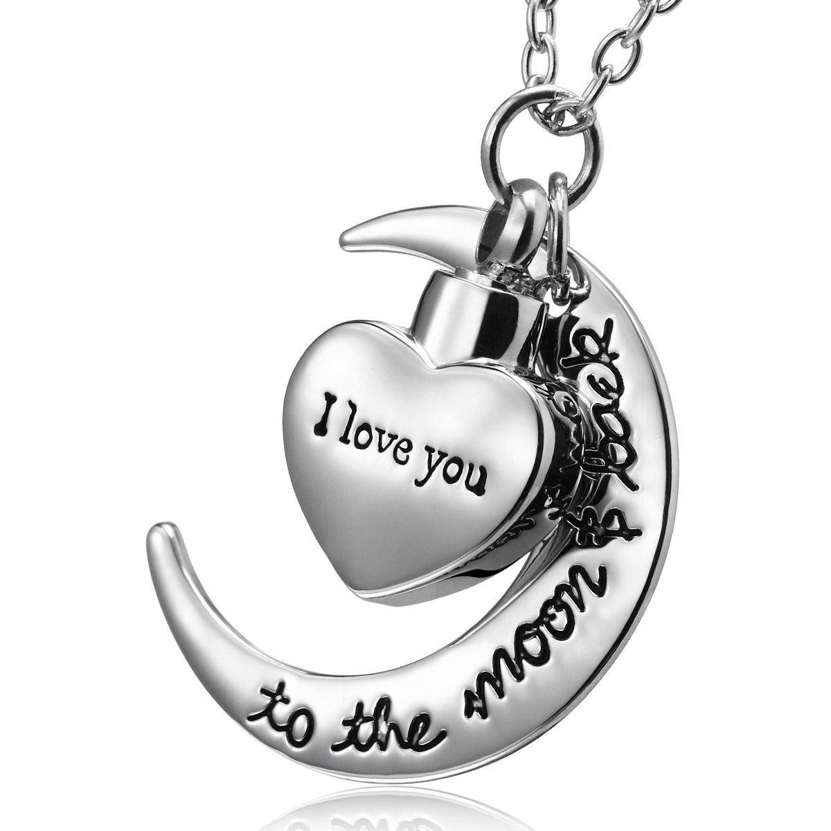 Amazon.com: I Love You To The Moon And Back urna colgante ...