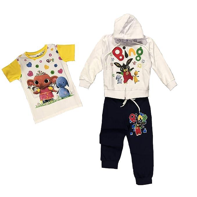 9834d9c39034 -Bing Tuta + Maglietta Coniglietto Mis. 2 3 4 5 6 7 Anni Primavera Estate  2019: Amazon.it: Abbigliamento