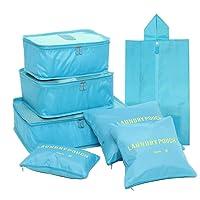 Kleidertaschen-Set 7-teilig Reisetasche in Koffer Wäschebeutel Schuhbeutel Kosmetik Aufbewahrungstasche Farbwahl
