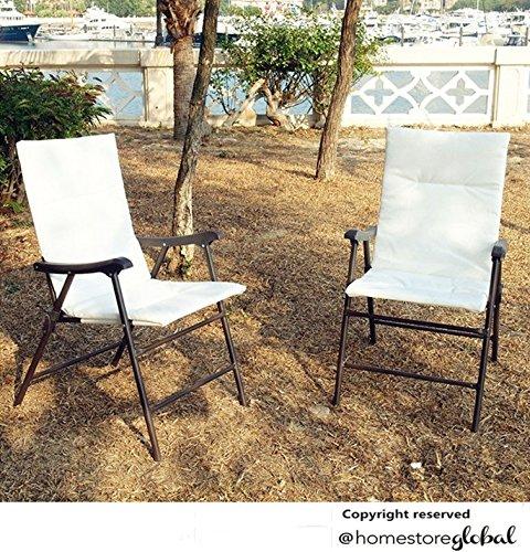 HomeStore Global, verano días festivos regalo del Juego de, de 2 sillas de jardín sillas plegables - información útil y conveniente - Sillón con ...