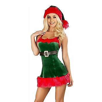 H:oter Women's Sexy Secret Santa Costume/Mrs Miss Christmas Santa Fancy  Dress Costume