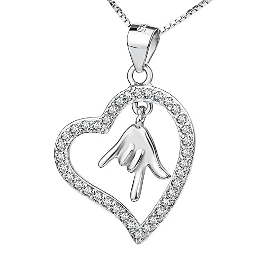 Aimilar Heart Pendant Necklace Locket Chain Click a Like for You