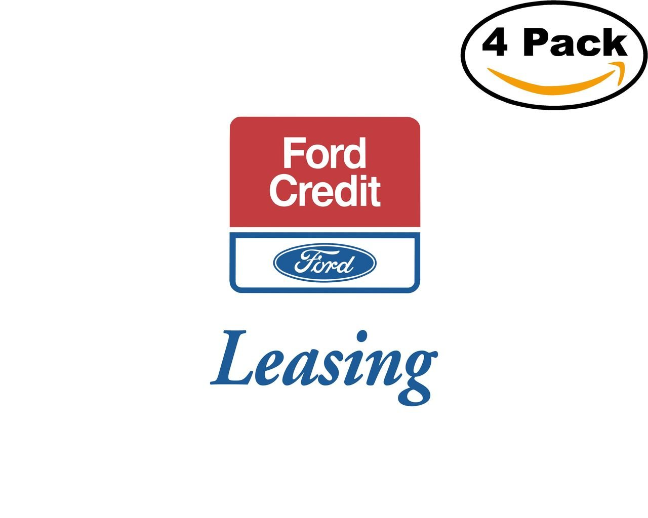 Amazon com ford credit 1 4 stickers 4x4 inches car bumper window sticker decal