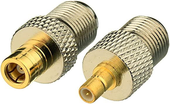 """us made XM or Sirius antenna SMB adapter cable to TV connector F type 12/"""" RG-174"""