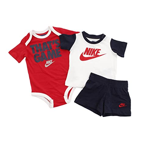 4ec8a471af974 Amazon.com: Nike Baby Boys 3 Piece 'That's Game' Short Set - 9/12 ...