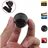 Spy Hidden Camera, Heymoko Round 1080P Full HD 6 LED Infrared Night Vision Motion Detection Portable Spy Voice Video Recorder Home Surveillance Camera DV