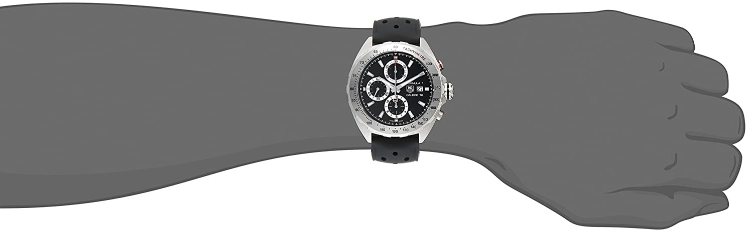 Tag Heuer Men s CAZ2010.FT8024 Formula 1 Stainless Steel Swiss Automatic Watch With Black Rubber Strap