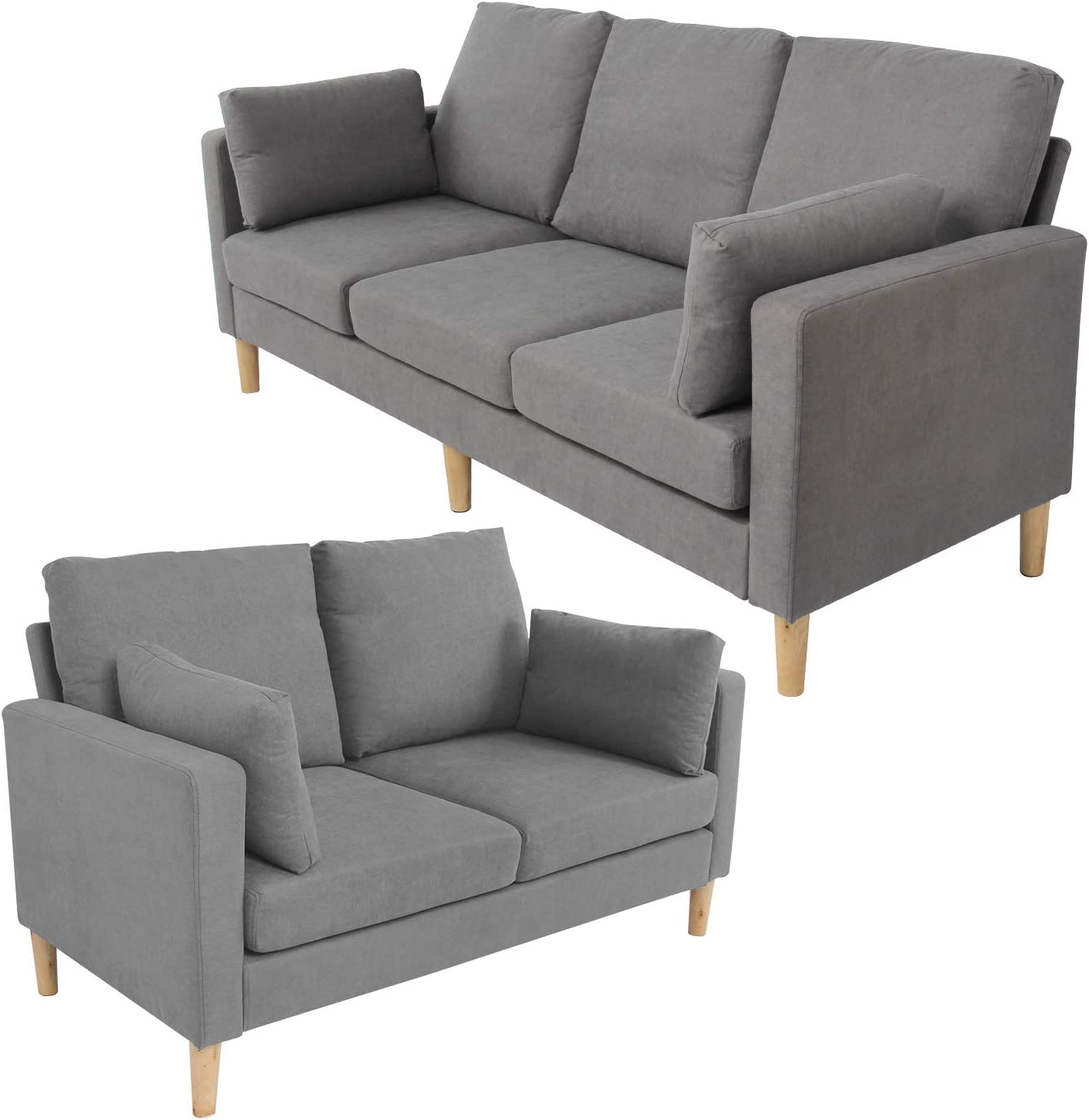 Sofa Set Sectional Sofa for Living Room Modern Sofa Couch and Sofas Contemporary Fabric Loveseat Sofa 3 Seat Sofa for Home Furniture Futon