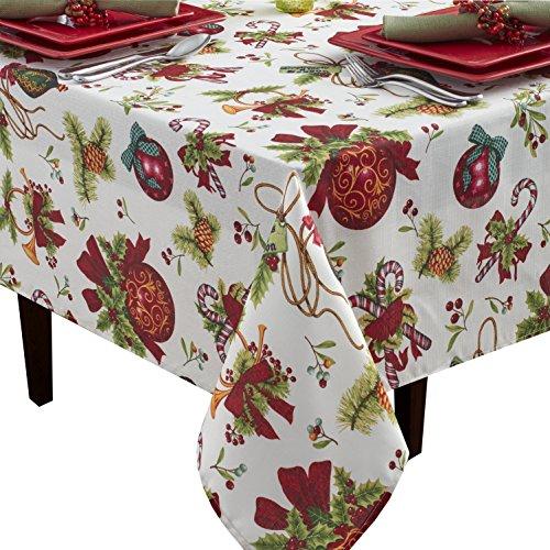 "Benson Mills Deck The Halls Fabric Printed Tablecloth, 60"" x"