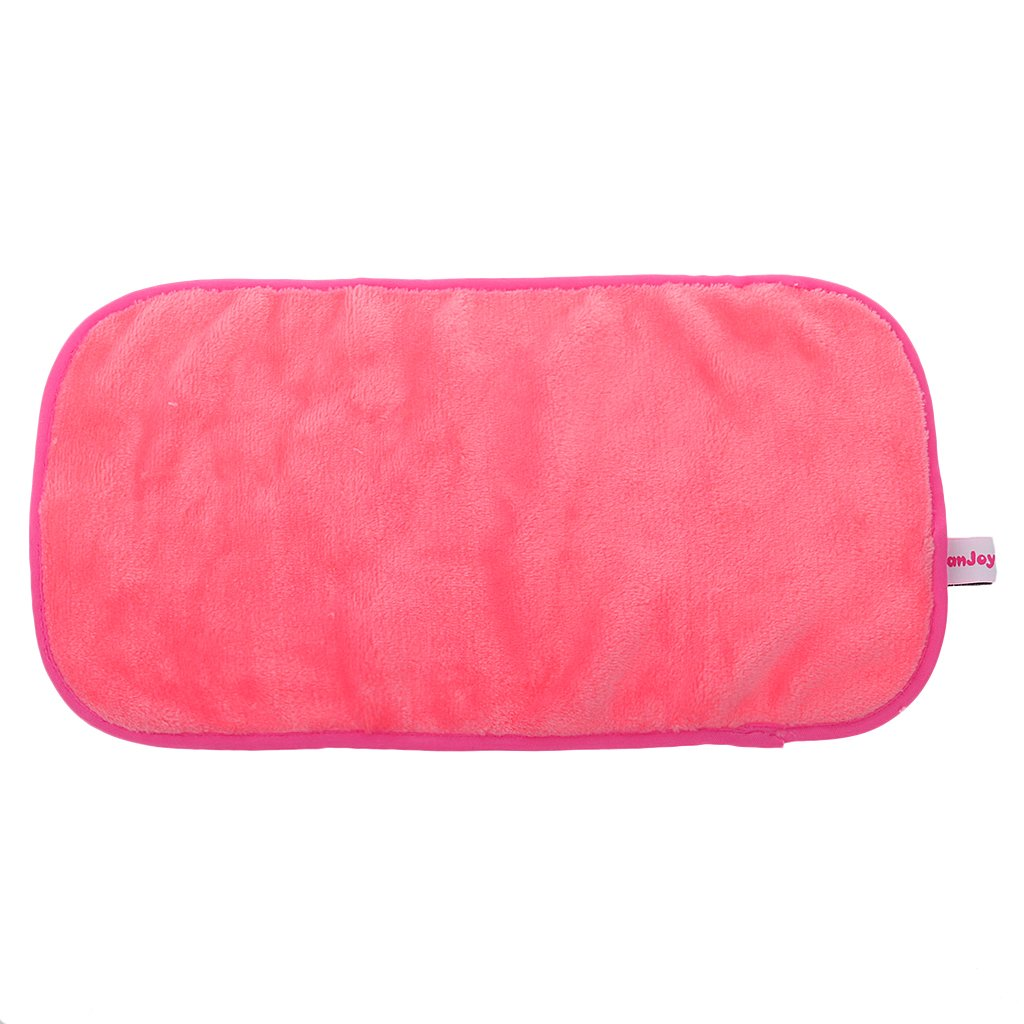 Microfiber Facial Cleansing Makeup Remover Removing Cloth Washcloth Towels-Rose Red/Pink - 21x38cm, Pink MagiDeal
