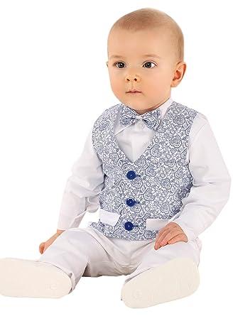 fe650bd15397e Boutique-Magique Costume Mariage baptême bébé garçon Blanc et Bleu Royal   Amazon.fr  Vêtements et accessoires