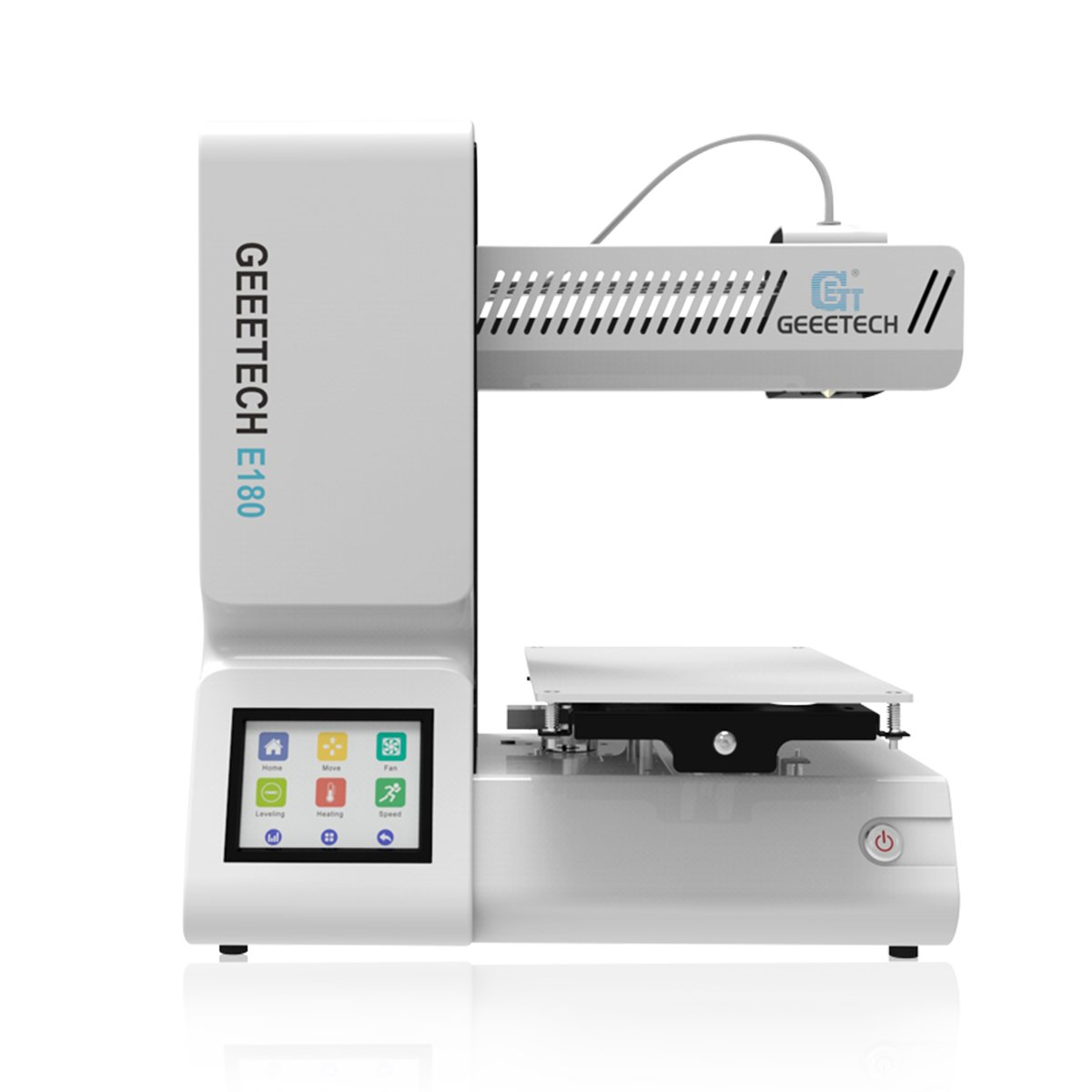 GIANTARM geeetech E180 Mini 3D-Drucker mit 3.2″ Farbigem Touchscreen.