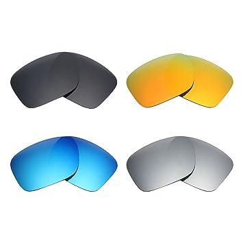 MRY 4 pares polarizadas lentes de repuesto para Oakley Holbrook (sunglasses-stealth negro/