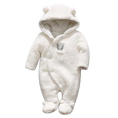 Bebé Ropa de Invierno Traje de Nieve Fleece Peleles con Capucha Cálido Mameluco Espeso Trajes Monos Manga Larga: Amazon.es: Ropa y accesorios