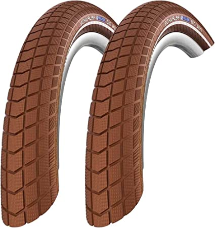 2x Schwalbe Pneus Big Ben 55-559 26 in KGuard fil Reflex Marron