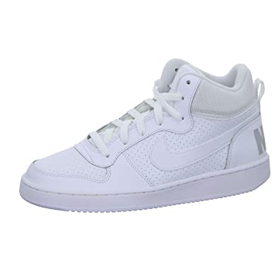 online store 7fe47 8518f Nike Youths Court Borough Mid White Nubuck Trainers 39 EU