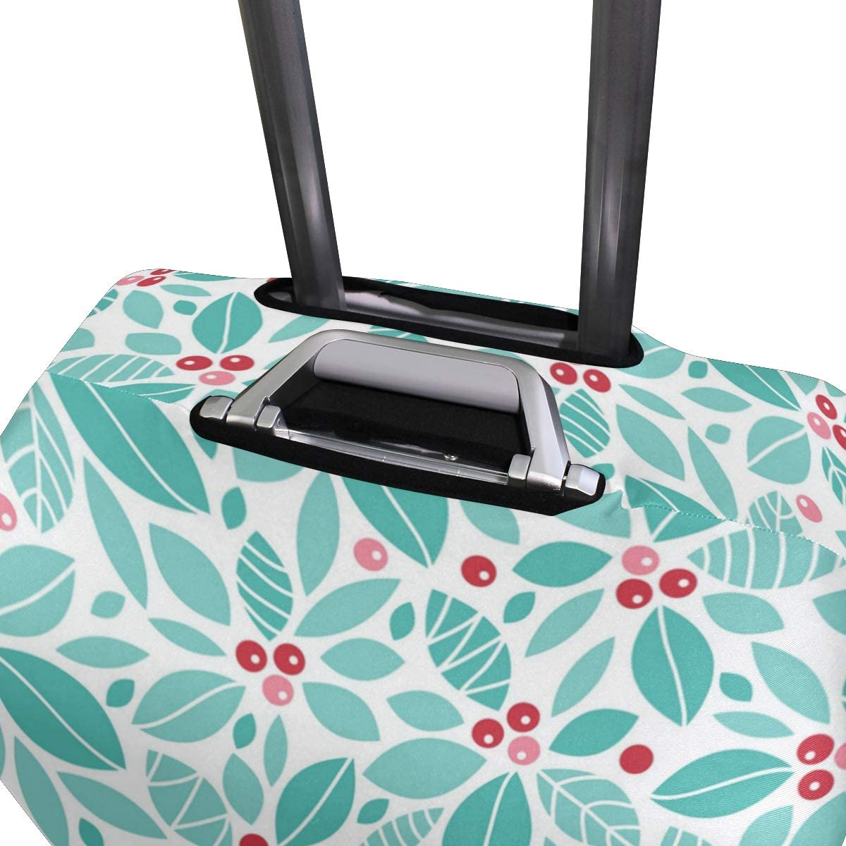 Blue Leaves And Red Fruits Travel Luggage Protector Case Suitcase Protector For Man/&Woman Fits 18-32 Inch Luggage