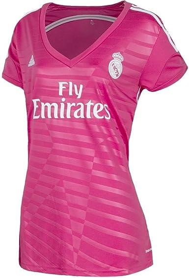 adidas Real Madrid Fuera Mujer Camiseta 2014 – 2015 Rosa rosa ...