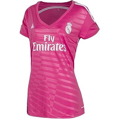 Adidas Real Madrid Fuera Mujer Camiseta 2014 - 2015 Rosa Rosa: Amazon.es: Deportes y aire libre