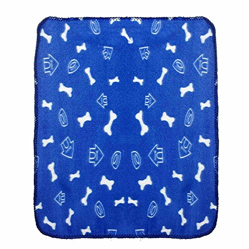 Glumes Clearance Soft Comfortable Thick Pet Blanket Bone Printing Warm Fleece Blanket Sleep Mat Pad Bed Cover Suitable for Puppy Dog CatIdeal