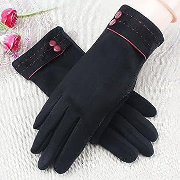 5d0db695b71d54 OME&QIUMEI Baumwollhandschuhe Frauen Im Winter Wärme Studenten Zeigen Dünne Touchscreen  Handschuhe Schwarz