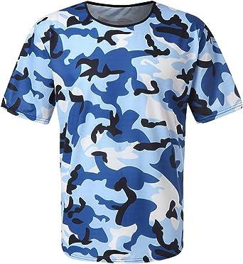 Nuevo Body Building Camuflaje Camiseta Hombres ejército táctico Combate Camiseta Militar Camuflaje Campamento Camisetas Fitness compresión Camisa: Amazon.es: Ropa y accesorios